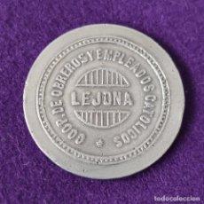 Monedas locales: FICHA MONEDA DE LEJONA. COOP DE OBREROS Y EMPLEADOS CATOLICOS. 25 PTAS. ALUMINIO. ORIGINAL.. Lote 262907485