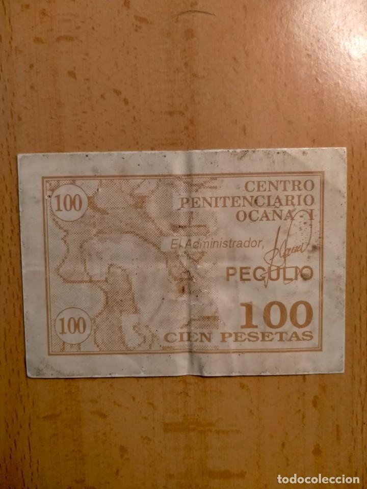 VALE DE 100 PESETAS CENTRO PENITENCIARIO OCAÑA 1, TOLEDO (Numismática - España Modernas y Contemporáneas - Locales y Fichas Dinerarias y Comerciales)