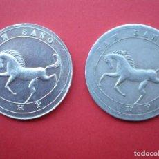 Monedas locales: DOS FICHAS ALUMINIO 1 KILO PAN SANO - 17-3-36 UNA SIN FECHA. Lote 265117169