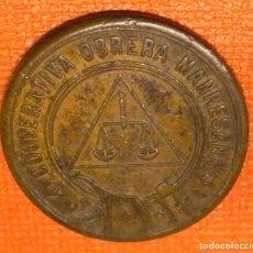 Monedas locales: MONEDA FICHA 1 PESETA (MANRESA). Lote 265510534