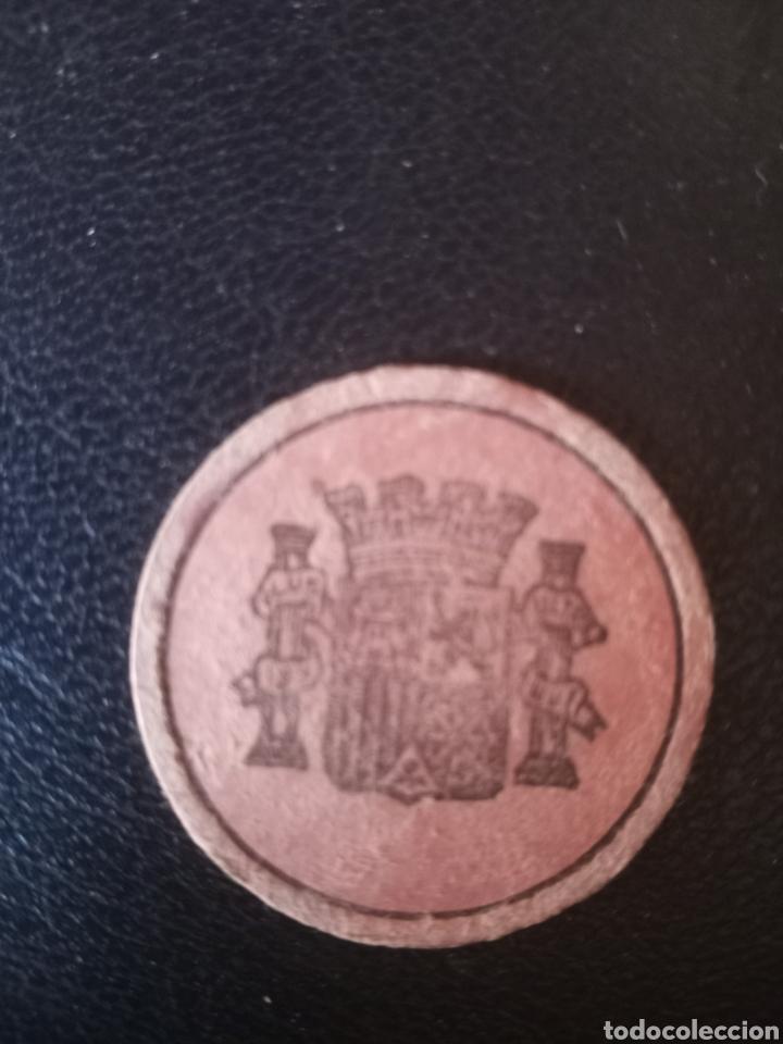 Monedas locales: Moneda de cartón guerra civil ,alicante 1936-1939. - Foto 2 - 267270409
