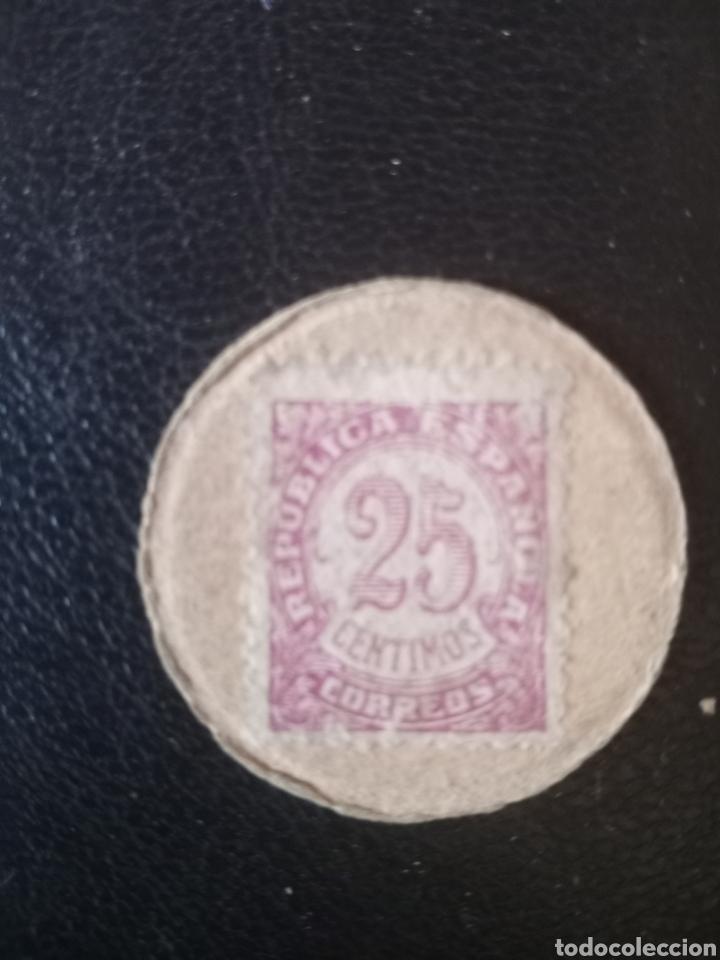 MONEDA DE CARTÓN GUERRA CIVIL ,ALICANTE 1936-1939. (Numismática - España Modernas y Contemporáneas - Locales y Fichas Dinerarias y Comerciales)