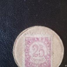 Monedas locales: MONEDA DE CARTÓN GUERRA CIVIL ,ALICANTE 1936-1939.. Lote 267270409