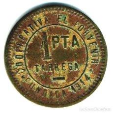Moedas locais: XS- TÀRREGA 1 PTA. COOPERATIVA EL PORVENIR LL-3368 (RRR) RARA. Lote 267512924