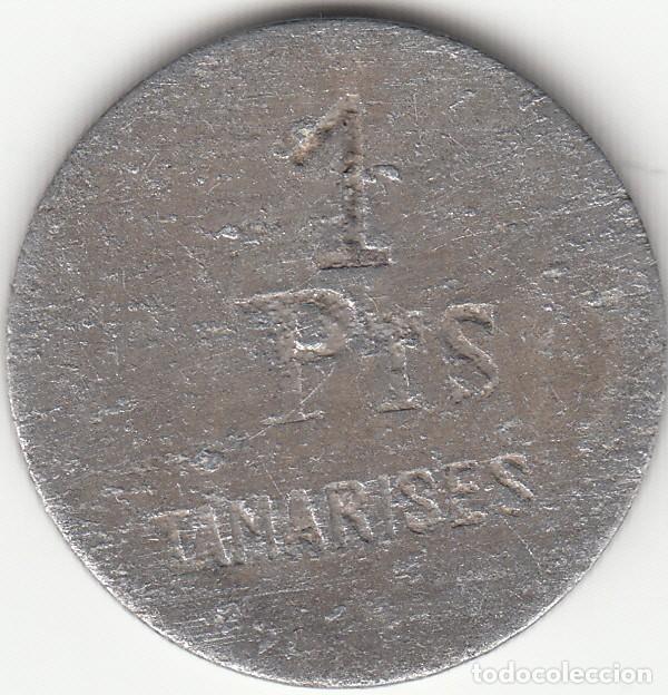 FICHA: TAMARISES ( HOTEL GETXO ) - 1 PESETA (Numismática - España Modernas y Contemporáneas - Locales y Fichas Dinerarias y Comerciales)