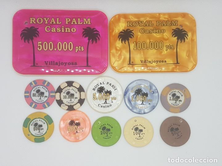 COLECCIÓN DE FICHAS DEL CASINO DE VILLAJOYOSA ROYAL PALM. BRUTAL!!! (Numismática - España Modernas y Contemporáneas - Locales y Fichas Dinerarias y Comerciales)