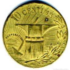 Monedas locales: XS- POBLE NOU (BARCELONA) COOPERATIVA LA FLOR DE MAIG 10 CTS. LL-1541 PRECIOSA. Lote 268999144