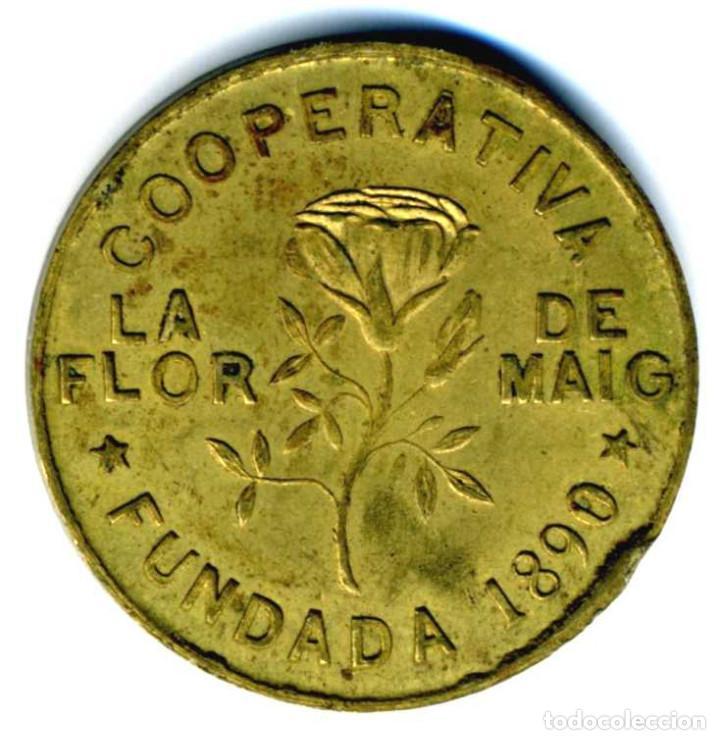 Monedas locales: XS- POBLE NOU (Barcelona) Cooperativa La Flor de Maig 10 Cts. LL-1541 PRECIOSA - Foto 2 - 268999144
