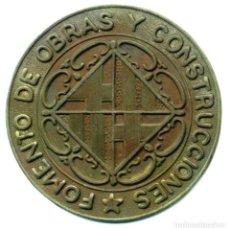 Monedas locales: XS- BARCELONA GITÓ FOMENTO DE OBRAS Y CONSTRUCCIONES 39,50 MM. INCÚS. Lote 269000404