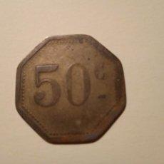 Monedas locales: FICHA EN METAL DE COOPERATIVA / CASINO. 3 CM LONG.. Lote 269282873