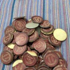 Monedas locales: BOLCAS- BARATO LOTE DE FICHAS DE CASINO PRINCIPIOS SIGLO XX. ROTURAS, DESPEGADAS. VER FOTOS.. Lote 271815488