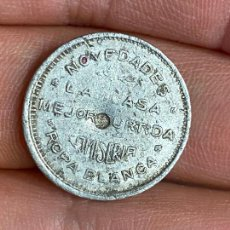 Monedas locales: FICHA PUBLICIDAD EL GLOBO TEJIDOS CARTAGENA - NOVEDADES LA CASA MEJOR SURTIDA CAMISERIA ROPA BLANCA. Lote 276226953