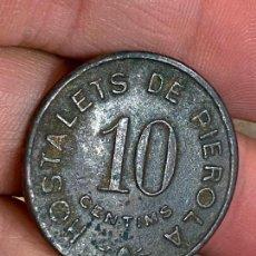 Monedas locales: 10 CENTIMOS 1937. COOPERATIVA AGRÍCOLA HOSTALETS DE PIEROLA. FICHA DINERARIA. Lote 276367763