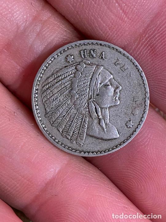 UNA PESETA DE CASINO 1 PESETA INDIO (Numismática - España Modernas y Contemporáneas - Locales y Fichas Dinerarias y Comerciales)