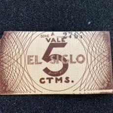 Monedas locales: EL SIGLO 5CTS. Lote 277047568