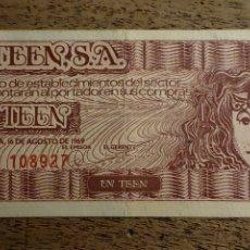 Monedas locales: BILLETE DE 1 TEEN DEL AÑO 1969 AUTORIZADO POR F.N.M.T. (1 TEEN= 5 PTAS). Lote 277102543