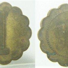 Monedas locales: VIEJA FICHA DINERARIA A IDENTIFICAR 1 MIDE 24 MM. Lote 277552368