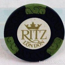 Monedas locales: FICHA DE CASINO, RITZ, LONDON, 1 LIBRA. Lote 280124518