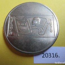 Monedas locales: MEDALLA RDA, DDR, ALEMANIA COMUNISTA FDJ FREIE DEUTSCHE JUGEND, 1970, TOKEN, JETÓN. Lote 280128318