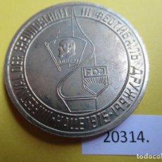 Monedas locales: MEDALLA RDA, DDR, ALEMANIA COMUNISTA FDJ FREIE DEUTSCHE JUGEND, 1975, TOKEN, JETÓN. Lote 280128403