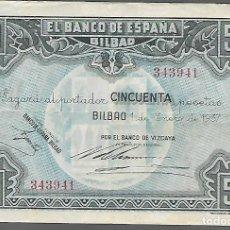 Monedas locales: BILBAO. 50 PTAS. VARIEDAD. DIFERENTES FIRMAS DIRECTOR GERENTE,.- VER FOTOS. Lote 283357823