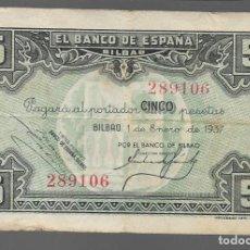 Monedas locales: BILBAO. 5 PTAS. VARIEDAD. DIFERENTES FIRMAS DIRECTOR GERENTE,.- VER FOTOS. Lote 283358043