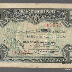 Monedas locales: BILBAO. 5 PTAS. VARIEDAD. DIFERENTES FIRMAS DIRECTOR GERENTE,.- VER FOTOS. Lote 283358123