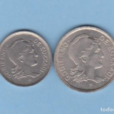 Monedas locales: MONEDAS GUERRA CIVIL - EUZKADI - SERIE DE 1 Y 2 PESETAS 1937 - PG-208-9 - (EBC). Lote 287838553
