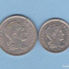 Monedas locales: MONEDAS GUERRA CIVIL - EUZKADI - SERIE DE 1 Y 2 PESETAS 1937 - PG-208-9 - (MBC). Lote 287838743