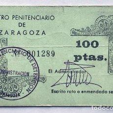 Monedas locales: VALE 100 PESETAS / CENTRO PENITENCIARIO DE ZARAGOZA. Lote 287897253