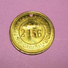 Monedas locales: ANTIGUA MONEDA DE 1 PESETA SOCIEDAD EL PROGRESO PESCADOR DE EL CABAÑAL DE VALENCIA 1902-1924. Lote 288538378