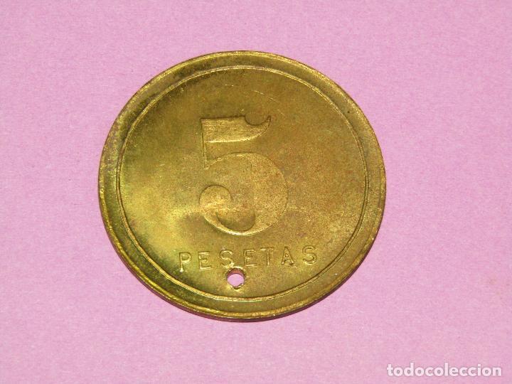 Monedas locales: Antigua Moneda de 5 Pesetas SOCIEDAD EL PROGRESO PESCADOR de EL CABAÑAL de Valencia 1902-1924 - Foto 2 - 288538753
