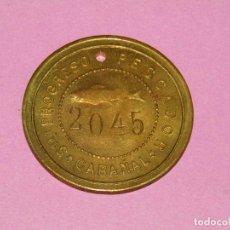 Monedas locales: ANTIGUA MONEDA DE 5 PESETAS SOCIEDAD EL PROGRESO PESCADOR DE EL CABAÑAL DE VALENCIA 1902-1924. Lote 288538753