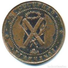 Monedas locales: XS- SANT CUGAT DEL REC (BARCELONA) PELLOFA - GITÓ DE VALOR 5 FUNERARIA COURE RARA. Lote 288740398