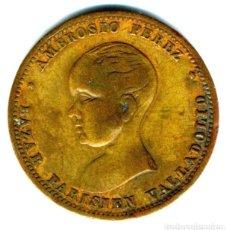Monedas locales: XS- FICHA PUBLICITARIA BAZAR PARISEIN VALLADOLID ALFONSO XIII PELÓN. Lote 289306478