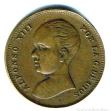 Monedas locales: XS- FICHA PUBLICITARIA NÁCAR VENUS ALFONSO XIII PELÓN. Lote 289306713