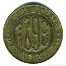 Monedas locales: XS- FICHA PUBLICITARIA FERRETERIA ORTEGA BARCELONA 1899 DESCOMPTE 1 RAL GITÓ PUBLICITARI. Lote 289308358