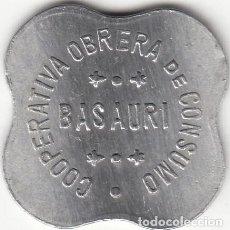 Monedas locales: FICHA: 1 LITRO DE LECHE - COOPERATIVA OBRERA DE CONSUMO BASAURI ( PAIS VASCO ). Lote 289330898