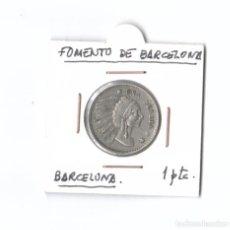Monedas locales: FOLIES BERGERE. 1 PESETA. BARCELONA. Lote 289684638