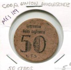 Moedas locais: 50 CENTIMOS COOP. UNION ANGLESENSE ( MES129 ). Lote 293144578