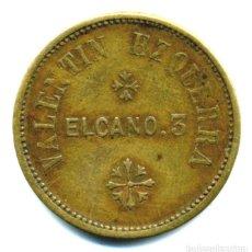 Moedas locais: XS- BILBAO ? VALENTÍN EZQUERRA CALLE ELCANO 3 1 SACO = 50 CÉNTIMOS. Lote 293673438