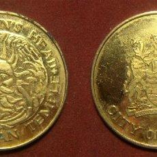 Monedas locales: FICHA THE GORGON´S HEAD THE ROMAN TEMPLE CITY OF BATH. Lote 294845443