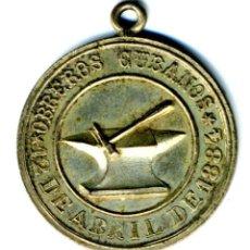 Monedas locales: XS- CUBA ESPAÑOLA 1884 12 DE ABRIL OBREROS CUBANOS MEDALLA 27,50 MM. Lote 294957973