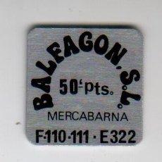 Monedas locales: BALFAGON S.L. - MERCABARNA - 50 PESETAS - FICHA DINERARIA - AÑOS 70. Lote 295290913