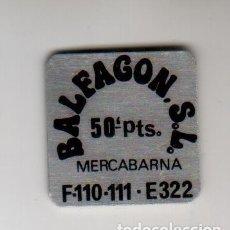 Monedas locales: BALFAGON S.L. - MERCABARNA - 50 PESETAS - FICHA DINERARIA - AÑOS 70. Lote 295290928
