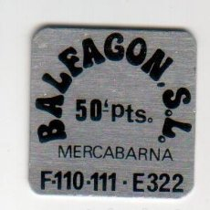 Monedas locales: BALFAGON S.L. - MERCABARNA - 50 PESETAS - FICHA DINERARIA - AÑOS 70. Lote 295290958