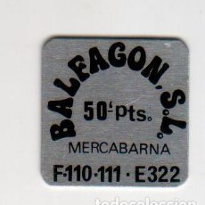 Monedas locales: BALFAGON S.L. - MERCABARNA - 50 PESETAS - FICHA DINERARIA - AÑOS 70. Lote 295290963