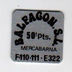 Monedas locales: BALFAGON S.L. - MERCABARNA - 50 PESETAS - FICHA DINERARIA - AÑOS 70. Lote 295290993