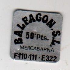 Monedas locales: BALFAGON S.L. - MERCABARNA - 50 PESETAS - FICHA DINERARIA - AÑOS 70. Lote 295291013