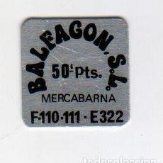 Monedas locales: BALFAGON S.L. - MERCABARNA - 50 PESETAS - FICHA DINERARIA - AÑOS 70. Lote 295291038